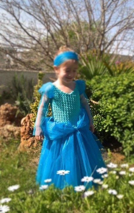 Free crochet Cinderella costume pattern tutorial