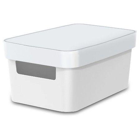 Storage Quarter Bin   Solid White   Room Essentials