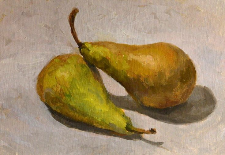 Pears oil painting by Victoria Duryagina #pears #art #oilpainting #painting