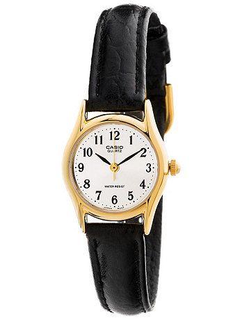 LTP1094Q-7B2RDF Casio Black Leather Ladies Analog Watch