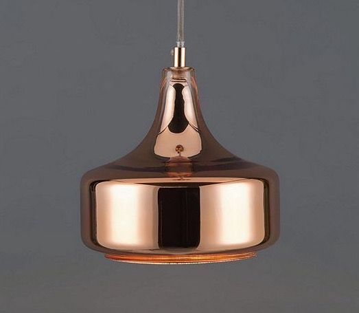 Glass metallic copper Cologne pendant lamp light hanging