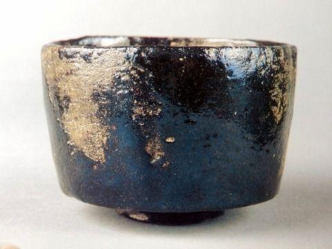 本阿弥光悦(1558-1637)作 黒楽茶碗 銘「七里」(五島美術館蔵)