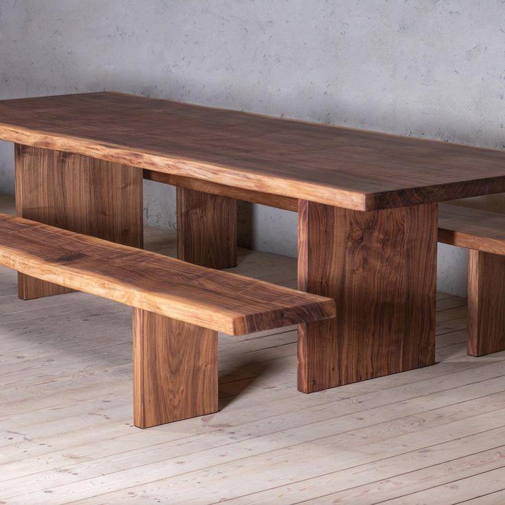 Best Millenium Walnut Dining Table With Slab Legs Walnut 400 x 300