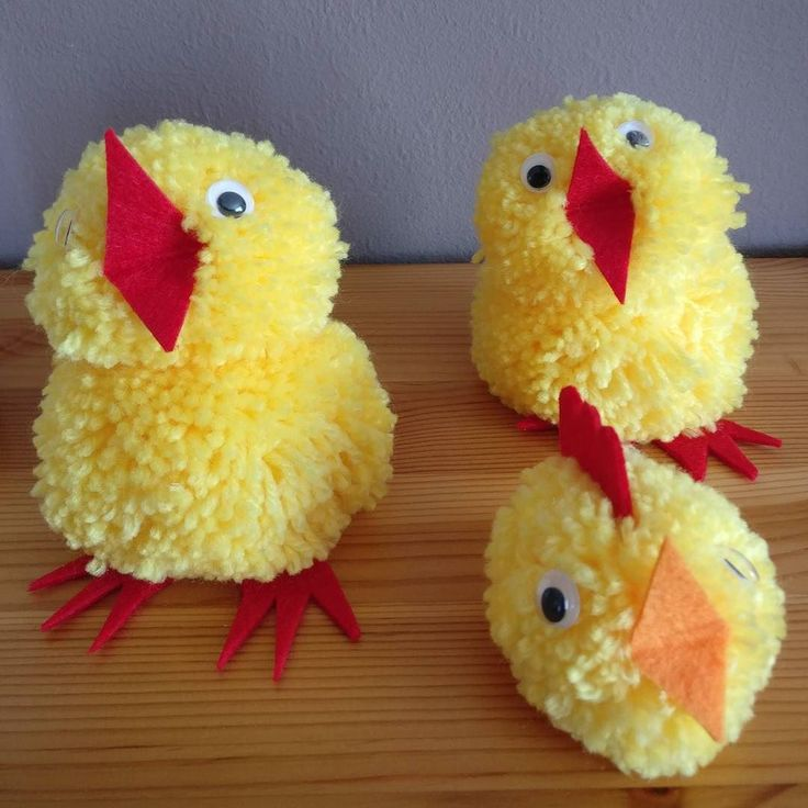 Made these myself: #craft #easter chicks