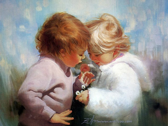 Early Childhood (Vol.01) : Donald  Zolan Paintings of Heartwarming Childhood Innocence  - Tiny Treasures  ,  Early Childhood of Innocence and Love   41