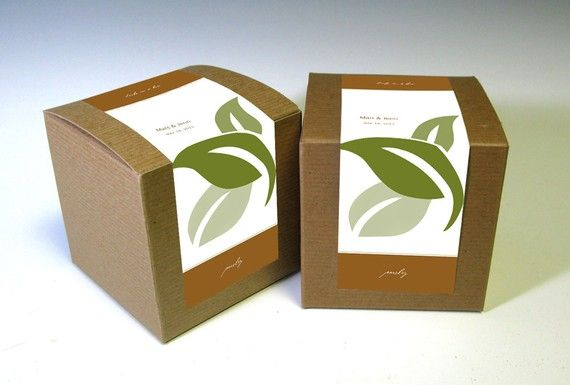 Herbs in a box. While these are meant for weddings, they would also be wonderful for memorials.
