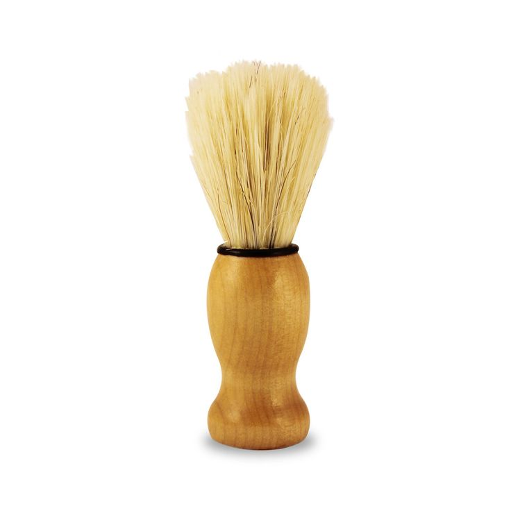 Shaving brush  Shaving brush with wooden handle in synthetic fibre. This is a great entry level shaving brusht that will transform a cake shaving soap or a shaving cream into copious lather