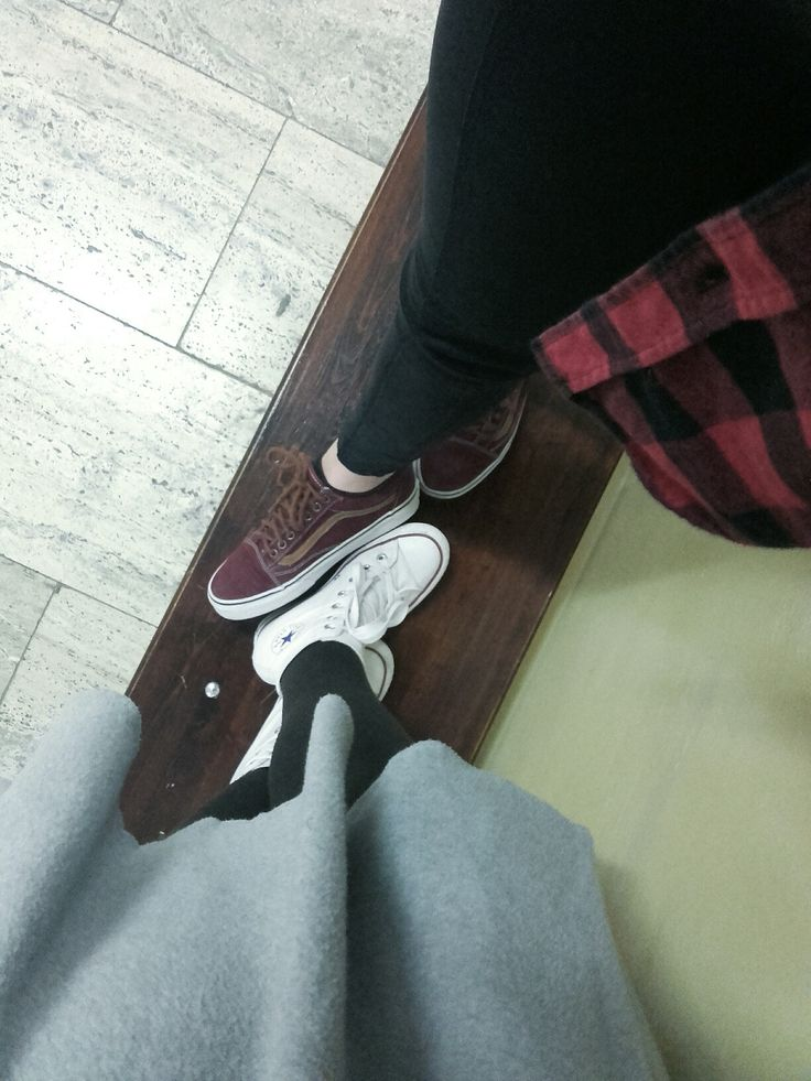 Even vans and converse can be friends.