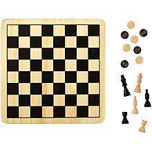 Buy John Lewis Chess & Draughts Game Online at johnlewis.com