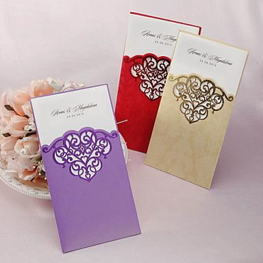 Personalized Wedding Invitation With Laser-cut Pattern - Set of 50 (More Colors) – AUD $ 64.20