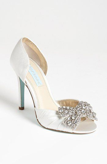 Blue By Betsy Johnson Blush Coset Embellished Heeled Wedding Mules big sale cheap price free shipping with credit card sale outlet discount latest collections low shipping fee for sale mhfLZP2U