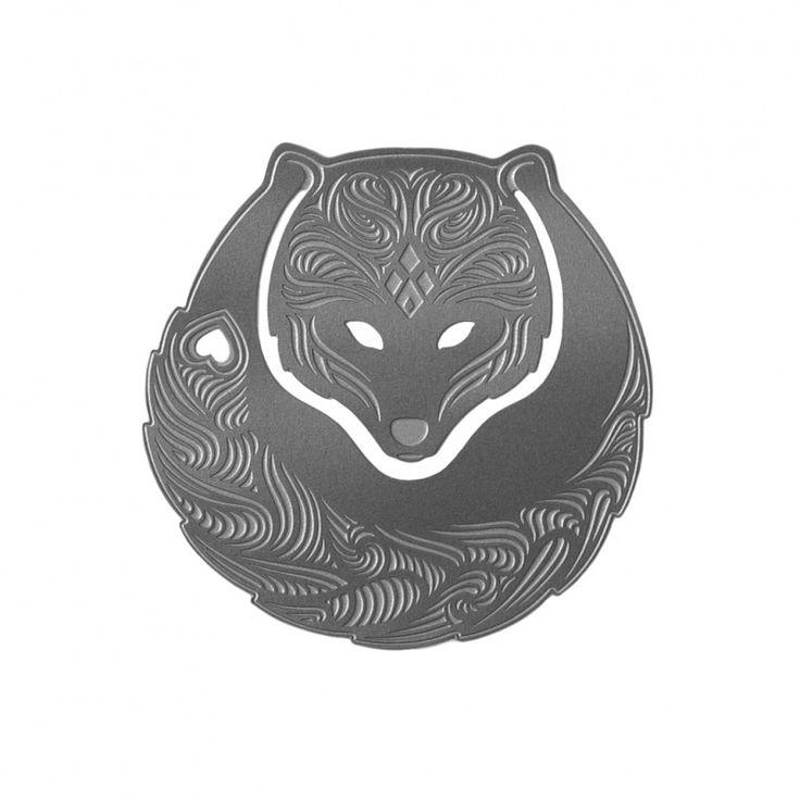 Foxy paperclip bladwijzer metaal in de vorm van een vos