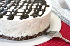 Cheesecake facile e veloce senza cottura e senza colla di pesce. With our Tray Liscio #Poloplast