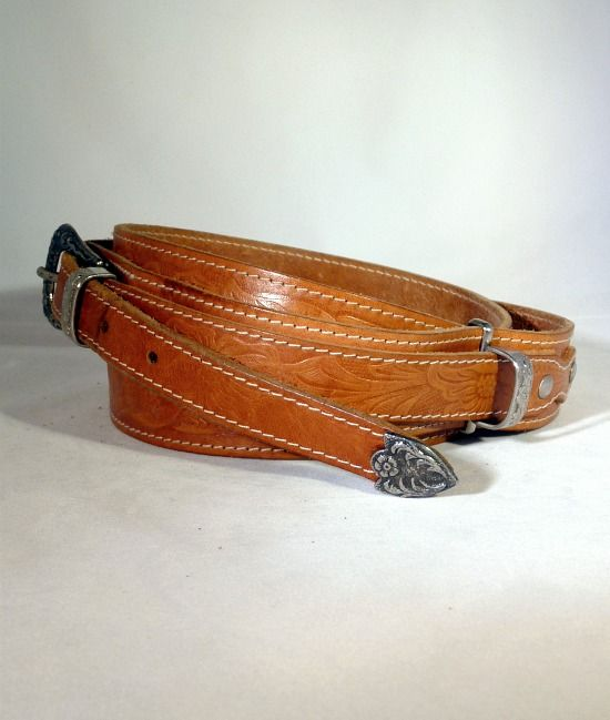 80s western leather belt