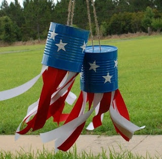 4th of July tin can windsock