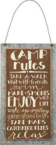 Sign - #Camp Rules, #camping