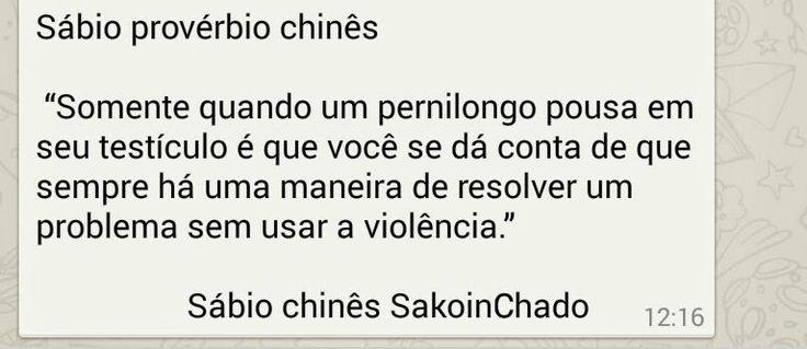 Mais um sábio proverbio chines
