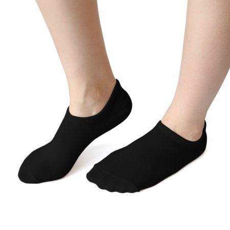 1 Pair Moisturizing Socks Dry Skin Low Cut Silicone Heel Boat Loafer Socks Black for Ladies