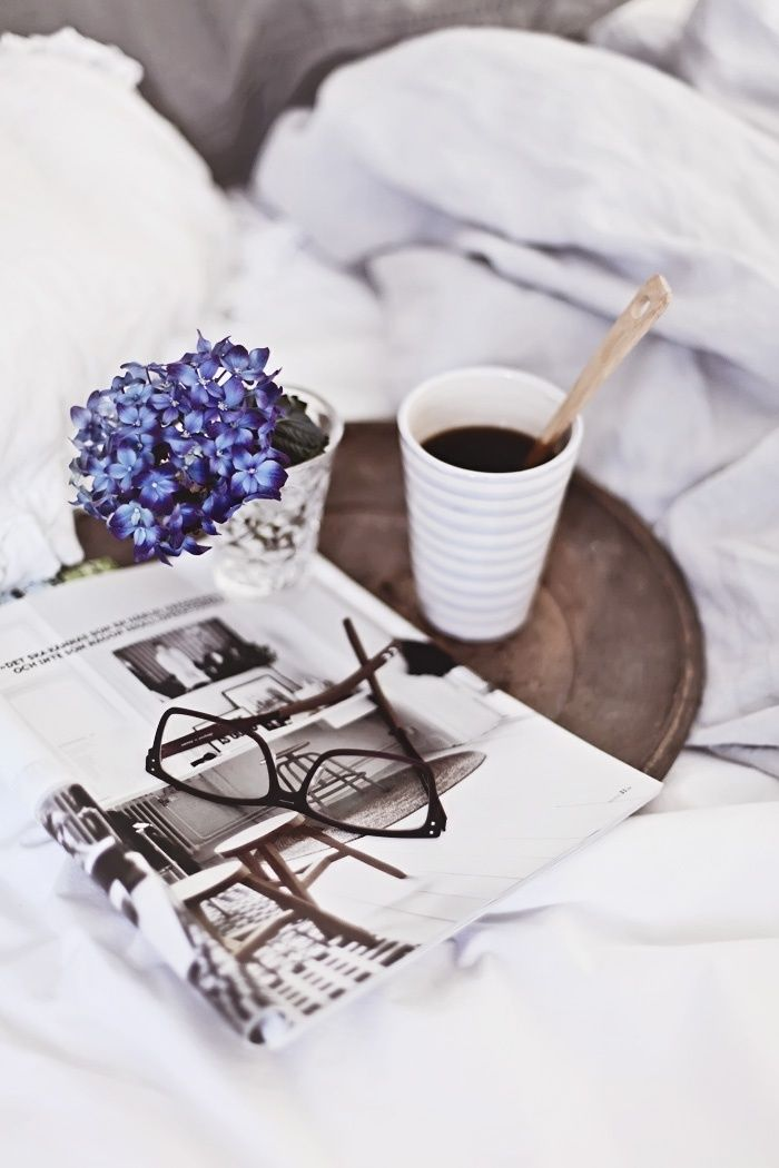 relaxing weekend routine.w coffee