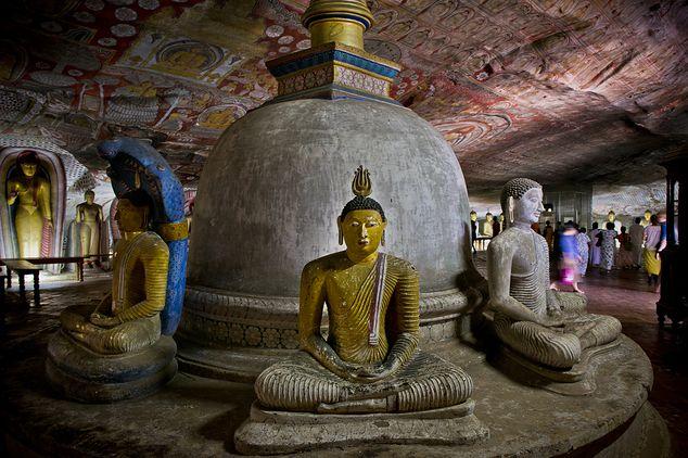rotstempel Dambulla (gemaakt in Gouden Tempel van Dambulla)
