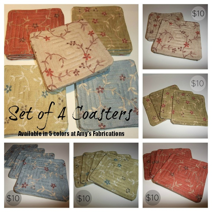 Amy's Fabrications: Set of 6 Coasters