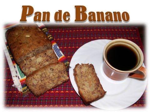 Delicioso pan de banano, muy fácil de preparar y disfrutar en cualquier momento.  Espero que les guste la receta.  Saludos :O)
