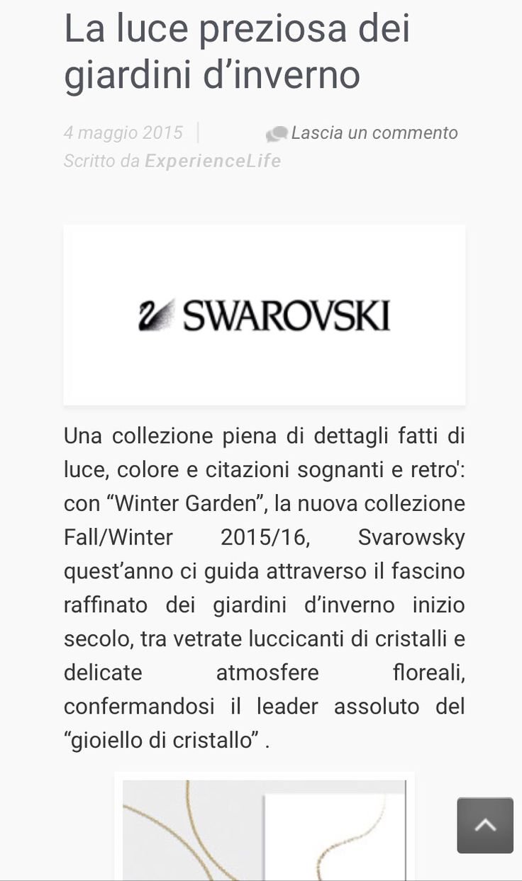 """La luce preziosa dei giardini d'inverno"" il nuovo articolo di @darchangelgabriel sulla collezione #fallwinter15/16 di @swarovski su www.experiencelife.it #swarovski #wintergarden #jewelry #jewels #jewel #TagsForLikes.com #fashion #gems #gem #gemstone #bling #stones #stone #trendy #accessories #love #crystals #beautiful #ootd #style #fashionista #accessory #instajewelry #stylish #cute"