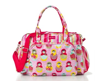 Lou Harvey - Nappy Bag - Sophia - Pink - Scallop