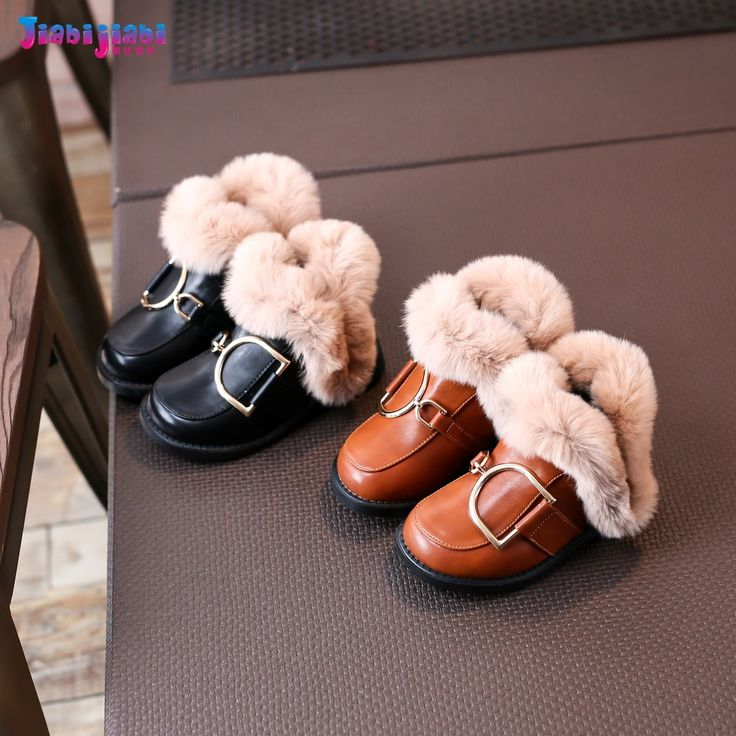 2-12T New Winter Children 100% Rabbit Hair Fashion Boots Baby Girls Shoes Toddler Kids Princess Leather Riding Motorcycle Boots