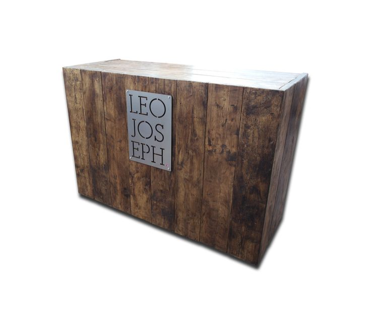 Mobile Cash Counter / Till   Shop Display Unit On Castors   Industrial  Reclaimed Timber Bespoke