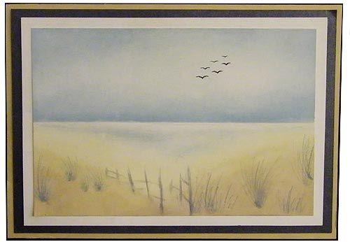 Ink Duster beach scene by Deby
