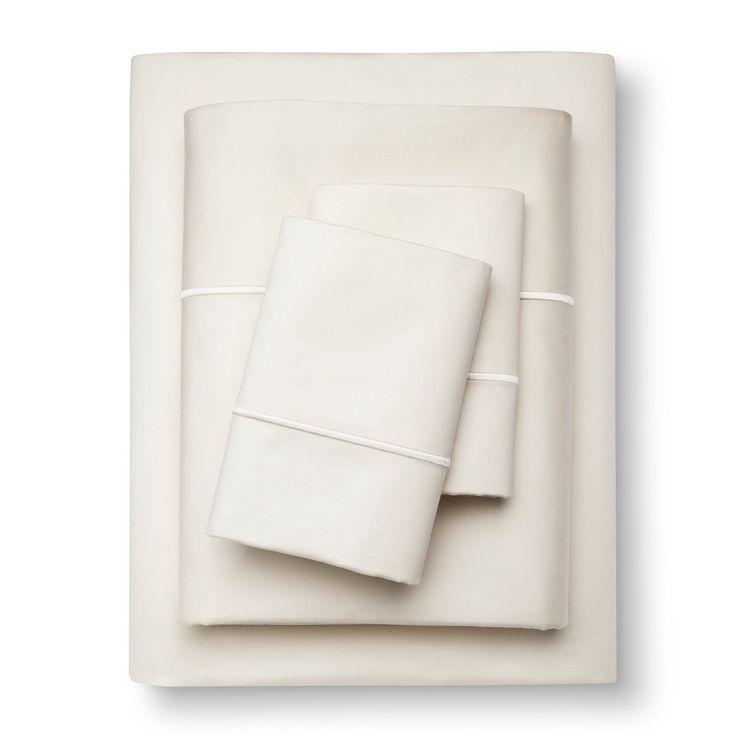 egyptian cotton sheet set cal king ivory thread count fieldcrest