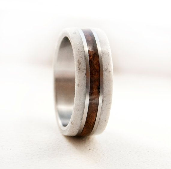 Hombres boda banda madera y anillo de bodas de por StagHeadDesigns