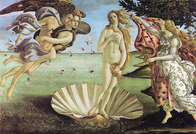 Sandro Bottecilli - The Birth of Venus at Uffizi Gallery Florence Italy by mbell1975, via Flickr