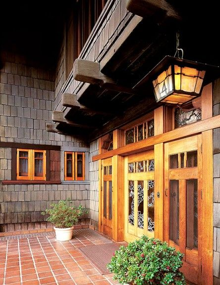 94 best images about all things doors on pinterest for Californian bungalow front door