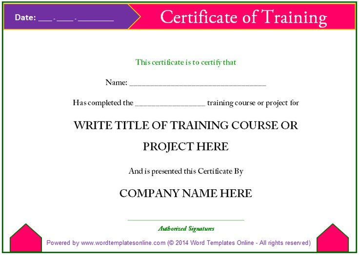 The Best Thing About Training Certificates Is That You Can Make Them  Yourself With A Very Simple Training Certificate Template For MS Word.