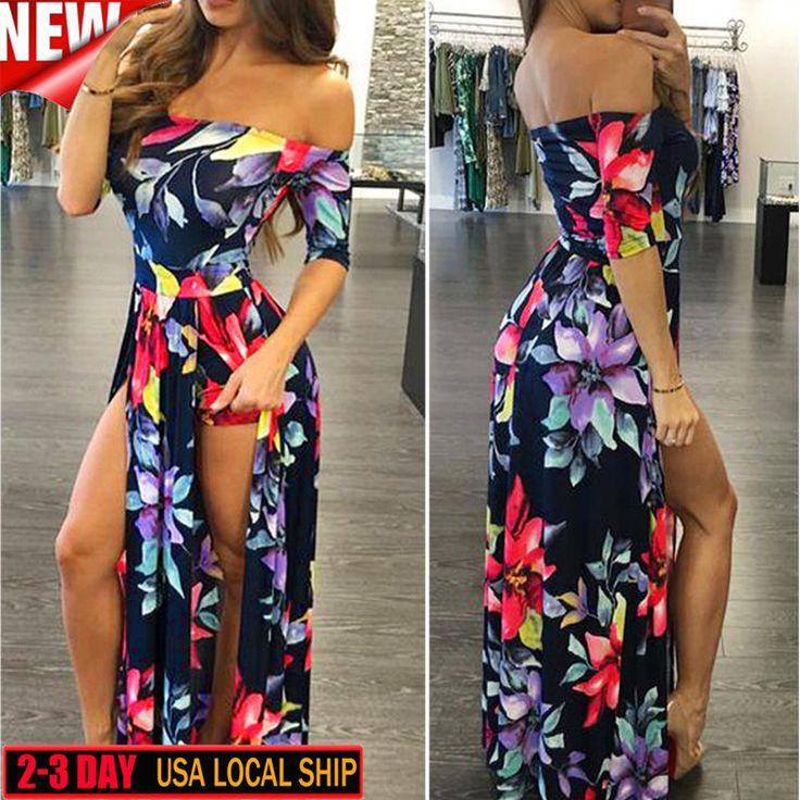Fashion Womens Jumpsuit Romper Oversized Bodycon Clubwear Playsuit Maxi Dress Us