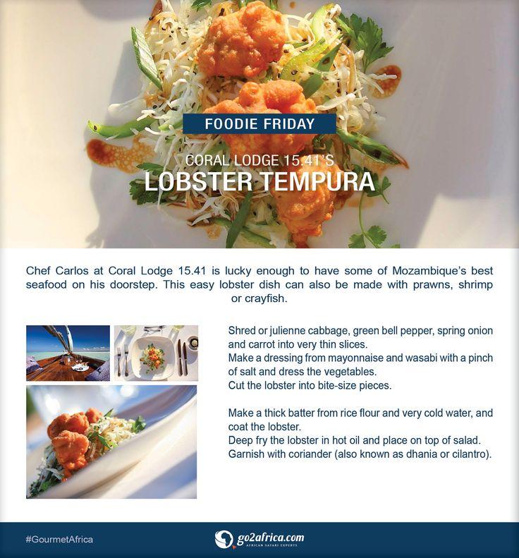 Coral Lodge 15.41's Lobster Tempura. #Africa #GourmetAfrica #lobster #tempura #foodie #recipe #Mozambique