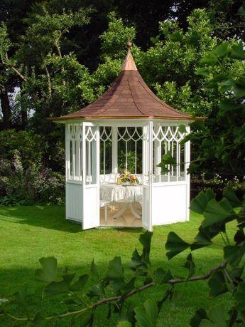 40 besten gartenpavillons bilder auf pinterest - Gartenhaus maritim einrichten ...