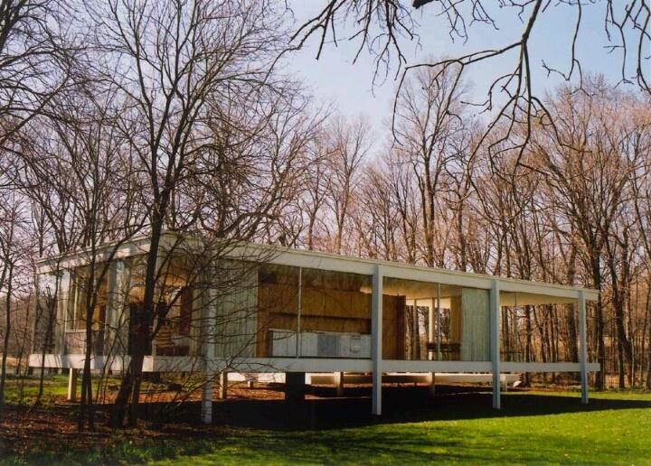 9 - ARQUITETURA: Planta livre arquitetura moderna, uma das maneiras de viver em volta da natureza.: Dreams Home, Farnsworth Ludwigmiesvanderroh, Vans Of, Der Rohe, Mie Vans, Modern Icons, Glasses House, Farnsworth House, Ludwig Mie