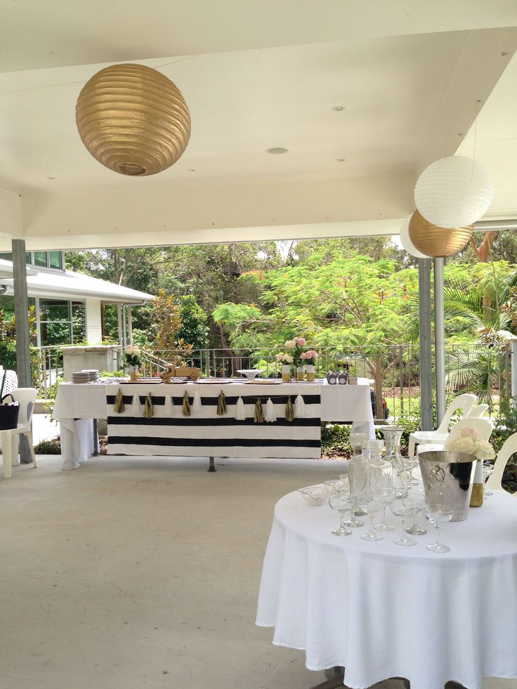 Black White And Gold Baby Shower / Gender Neutral Baby Shower