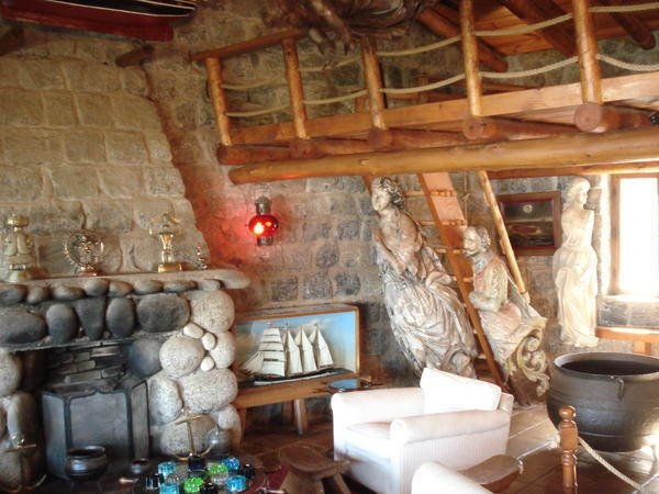 Inside Pablo Neruda´s house in Isla Negra