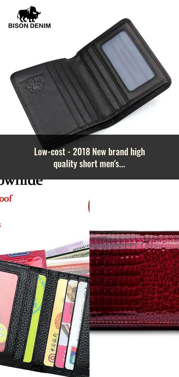 2822b5729598 2018 New brand high quality short men s wallet