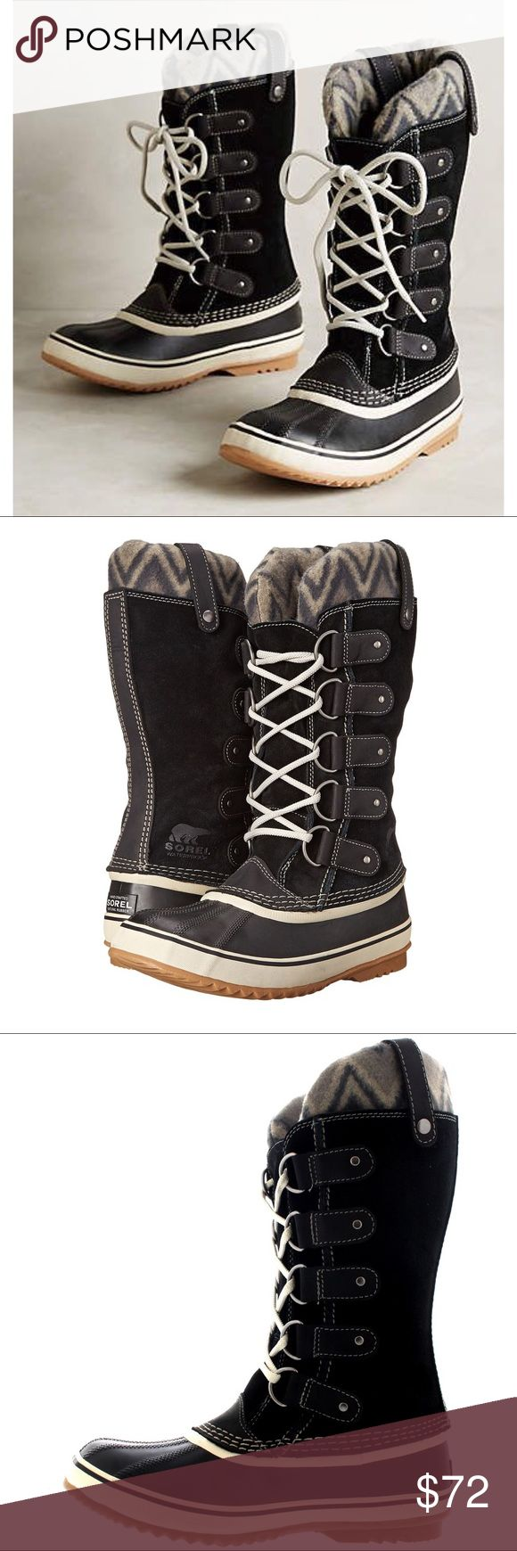 ONE DAY SALE! NWT Sorel Joan of Arctic Knit Black Beautiful waterproof suede leather boot size 8 by Sorel. New with tags, no box Sorel Shoes Winter & Rain Boots