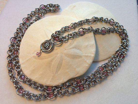 Yoga Meditation Necklace Mala Style by JewelrybySacredArt on Etsy, $68.00