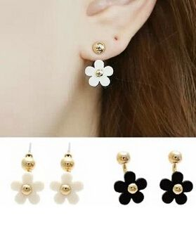e04  2 Colors New Fashion Korean Simple Clover Earring Gold Plated Stud earrings Earringsfor women