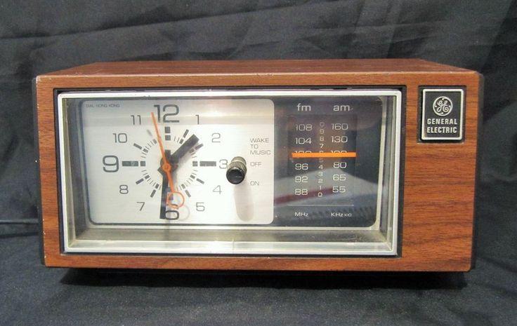 Vintage General Electric Analog Alarm Clock Radio Am Fm Tabletop 7 4550c Works Radio Alarm Clock Analog Alarm Clock General Electric