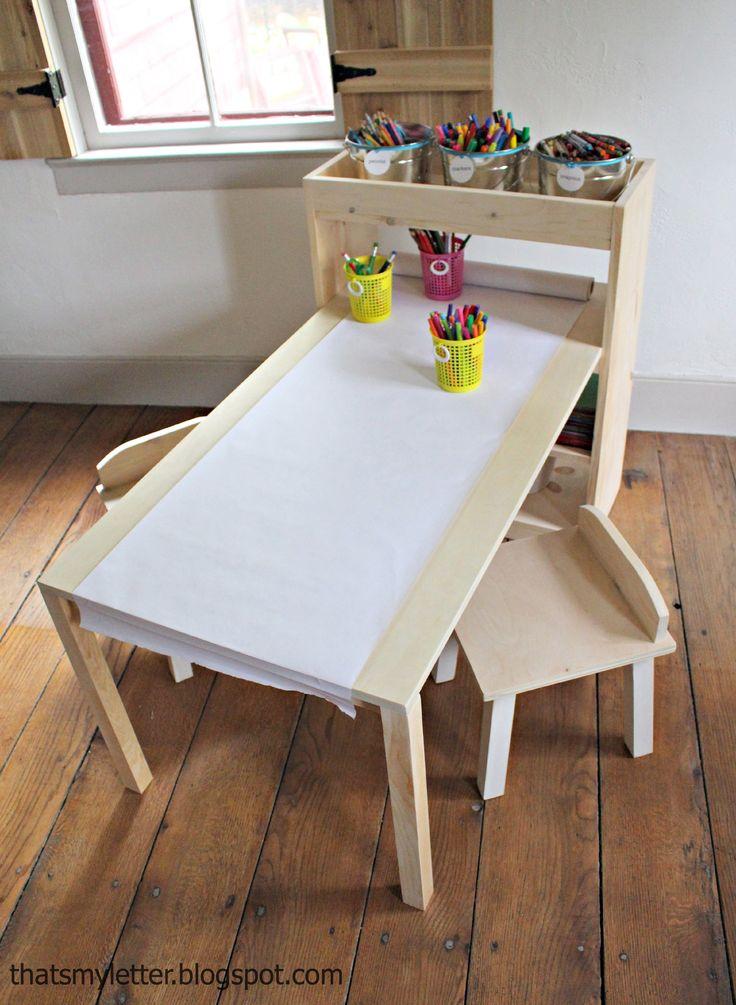 25 best kids art table ideas on pinterest. Black Bedroom Furniture Sets. Home Design Ideas