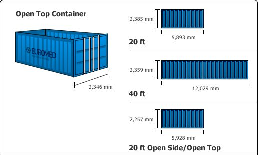 40 ft containers dimensions