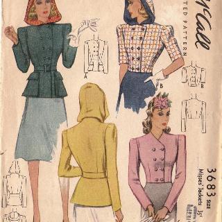 1940 hooded jacket pattern